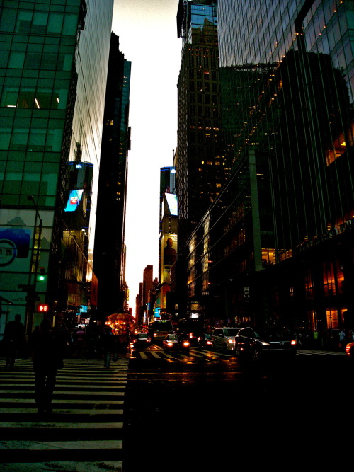 welljustglidestarryeyed:  42nd street, new york city