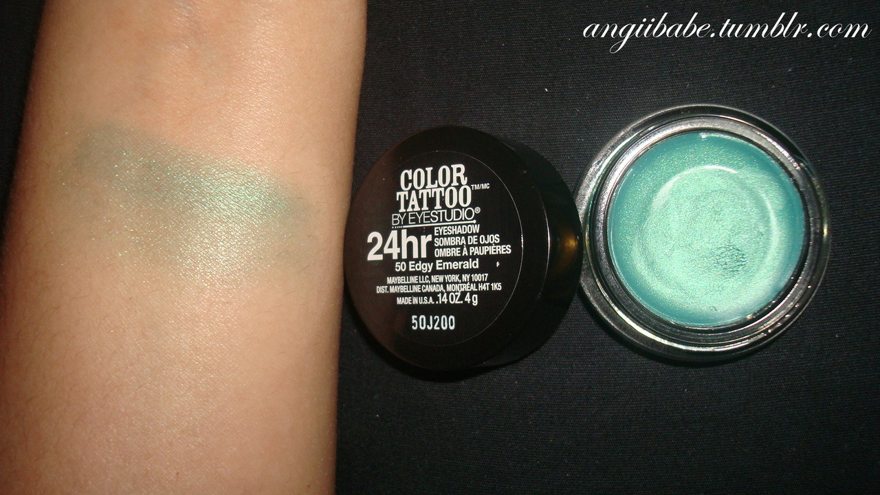 Maybelline Color Tattoo in Edgy Emerald II