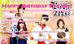 Happy Birthday Fany Fany Tiffany!!! (even though I'm a day late :/ )