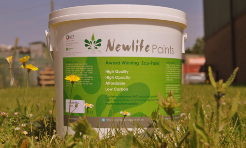 Newlife Paints Ltd is based in Ford, West Sussex. We professionally reprocess waste water-based paint back into a premium grade emulsion.  All products in our paint range guarantee a minimum 50% recycled content, made up from waste paint diverted from landfill or incineration. We offer a classic and contemporary range of 32 colours and provide a full colour matching service. Newlife's environmentally friendly paint has a smooth consistency and covers effortlessly. Newlife paint has the opacity and depth of colour that you would expect from a premium emulsion; all offered at an affordable price.  (via Newlife Paints | Award Winning Eco Paint)