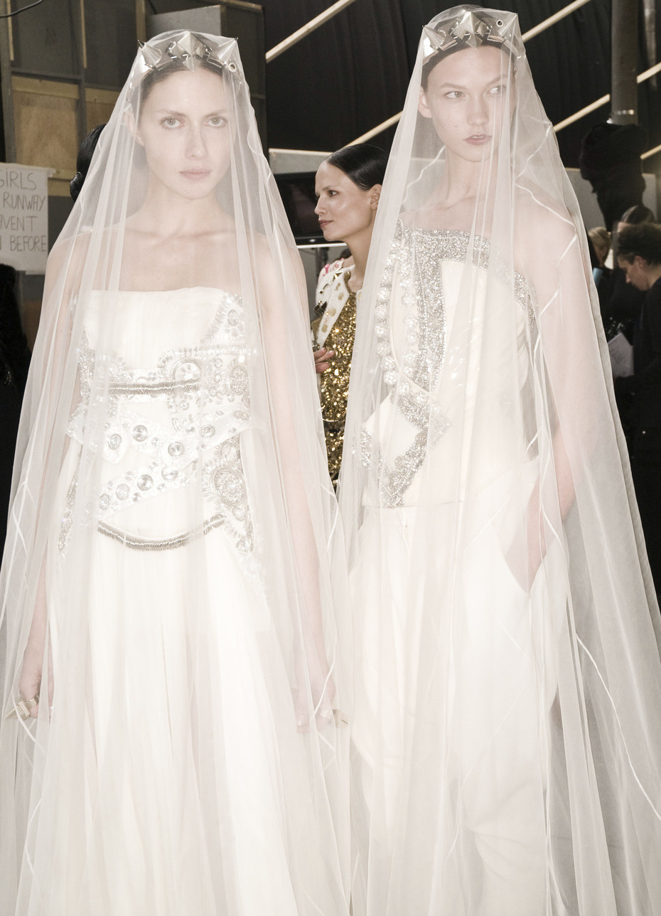 Backstage at Givenchy Haute Couture Autumn/Winter 2009