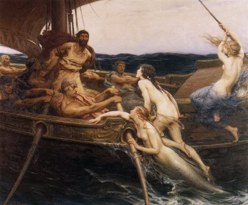 artandopinion:  Ulysses and the Sirens 1909 Herbert James Draper