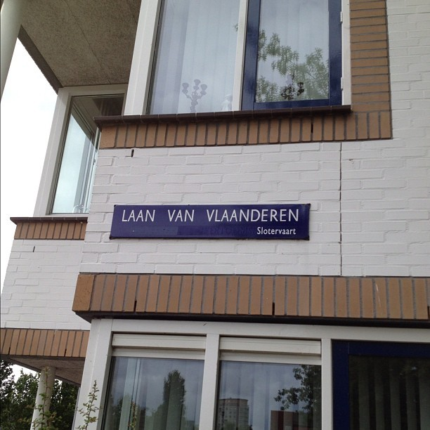 #AugustPhotolist Day 1: Street name sign where I live 🙌 #Amsterdam sahrry, this one's late! (Taken with Instagram)