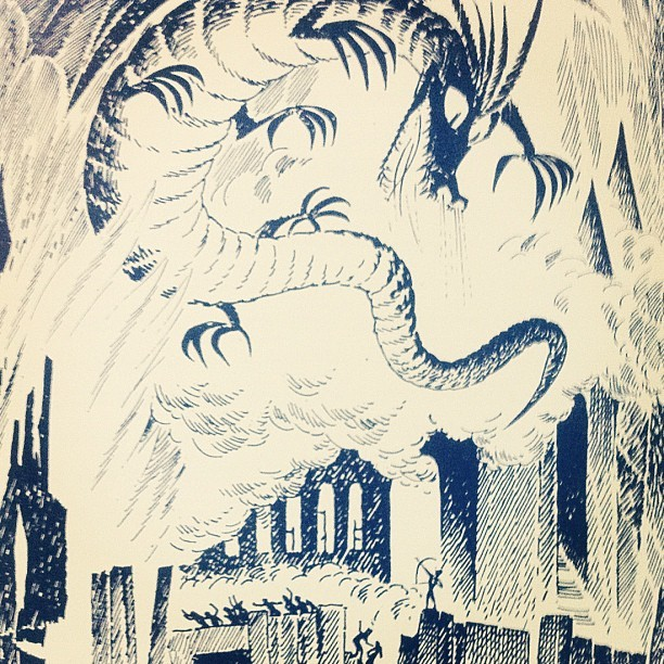 Smaug / The Hobbit illustrated by Tove Jansson (Taken with Instagram)