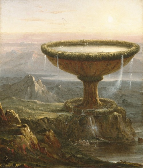 artpedia:  Thomas Cole - The Titan Goblets, 1833. Oil on canvas