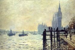 The Thames Below Westminister, 1871 by Claude Monet.
