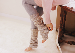 wildflwrchild:  I love leg warmers