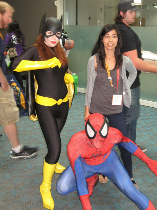 Batgirl & Spiderman cosplay