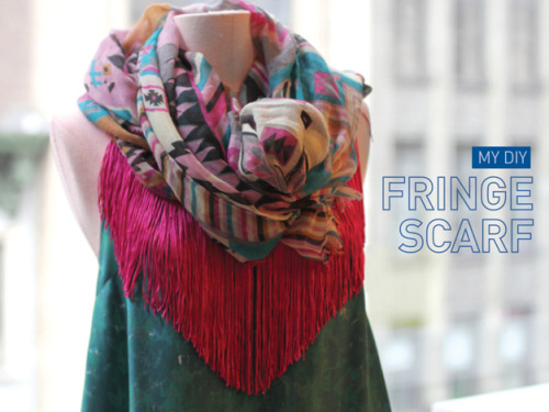 DIY No Sew Fringe Scarf or Beach Cover Up from I spy DIY here. Easy DIY video and really a really good travel piece. I still love the fringe scarf (where you cut the scarf to fringe it) I posted here and this is what I'm likely to make for gifts if I find the right fabric.