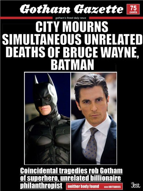 You guys, I think… Bruce Wayne might be Bane!