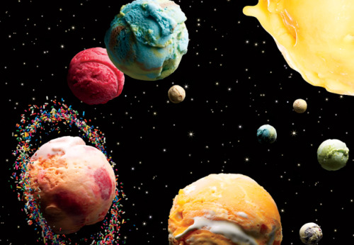 Ice cream as outer space, and the Bill of Frozen Treat Rights according to Alan Richman.  I want to make this photo into a graphic t-shirt and wear it everyday.