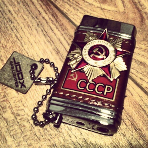 #Gas #lighter - #gift from #Russia #cccp #ussr #soviet (Taken with Instagram at Like Cafe)