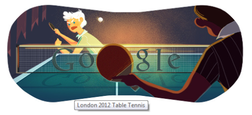 Google Doodle Marathon - Day 7: Table Tennis #ILoveGoogleDoodles :)