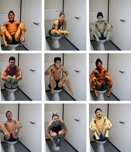 Olympic Divers on the Toilet These divers need more fiber.