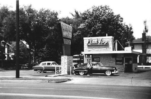 1958 - The Flat Top Drive-Inn4604 East Lake Street (via Old Minneapolis Facebook)