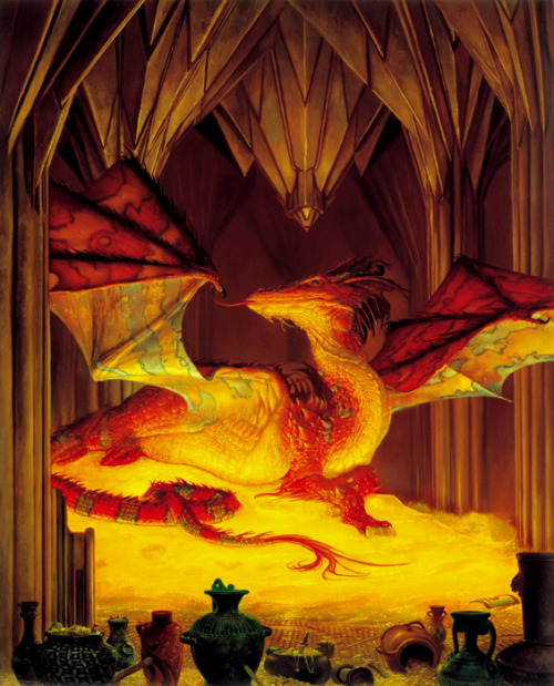 "thesweetrefrain:  ""The Great Dragon Smaug"", by Donato Giancola."