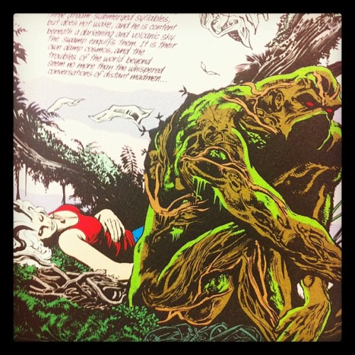 Reading some #SwampThing at work today (Taken with Instagram)