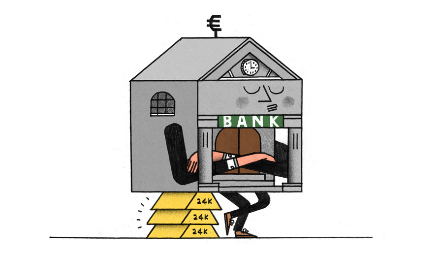 Central banks unorthodox actions are cutting lending. (Illustration by Jay Wright | Column by Alexander Friedman and Kiran Ganesh on Bloomberg View)