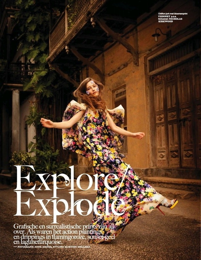 "VOGUE NETHERLANDS: IEKELIENE STANGE IN ""EXPLORE/EXPLODE"" BY PHOTOGRAPHER ANNE MENKE"