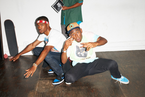 terrysdiary:  Frank Ocean and Tyler The Creator at my studio #36