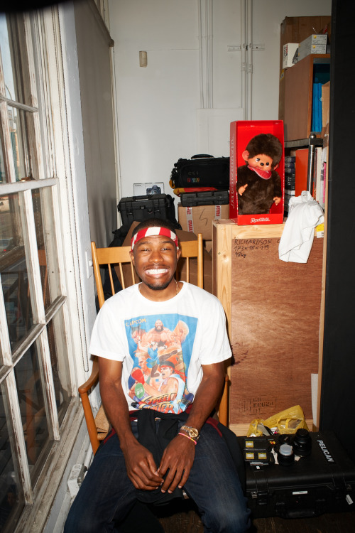 terrysdiary:  Frank Ocean at my studio #39  Love Frank