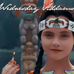 30 Days of Awesome Teen Girls, Day 28: Wednesday Addams from The Addams Family and Addams Family Values.