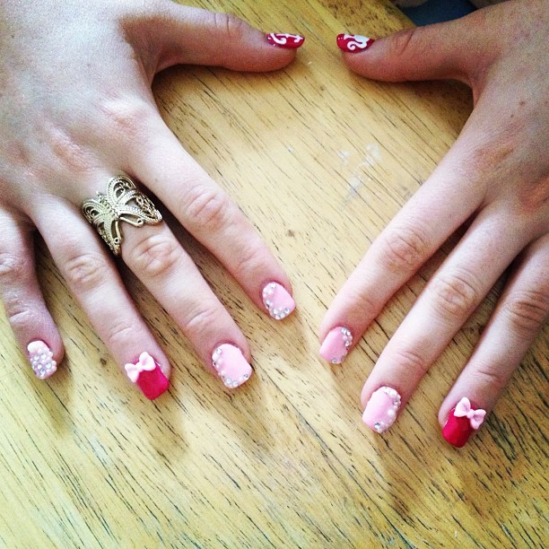 Quick perk up of Kayleigh's gel overlays! (Taken with Instagram)