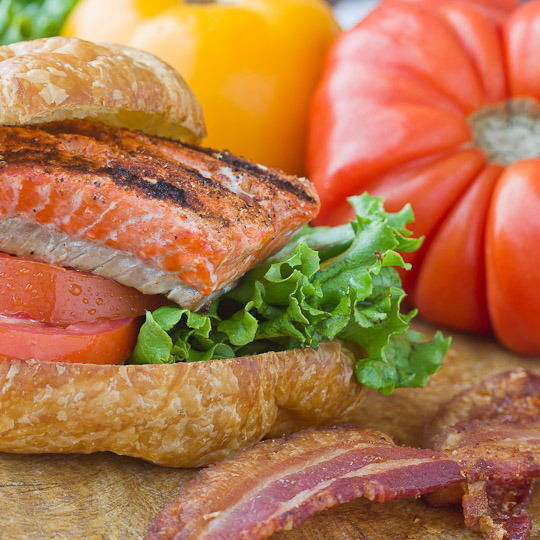 Smokey Salmon BLTs