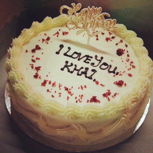 Hepi besday to me. Thanks cik tunang :) (Taken with Instagram at Secret Recipe)