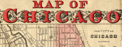 Map: Map Of Chicago Showing The Burnt District (1871) originally posted to the BIG Map Blog.