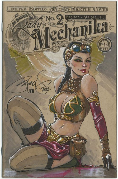 Lady Mechanika #2 Sketch Edition #157/200ASPEN COMICS by Peter Steigerwald