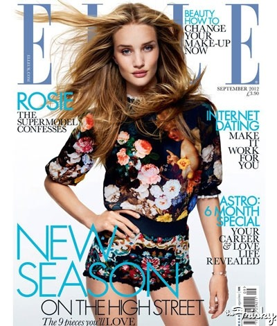 Rosie Huntington-Whitely Looks Like An Alien On The Cover Of Elle