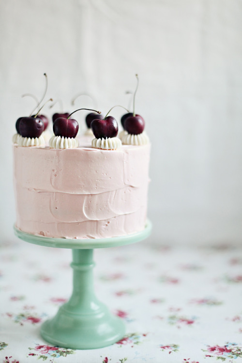 source: Call Me Cupcake ~ yummmmm ~ cherry vanilla cake w/ swiss meringue buttercream