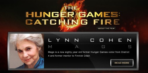 privetdrive:  OFFICIAL LYNN COHEN HAS BEEN CASTED TO PLAY MAGS