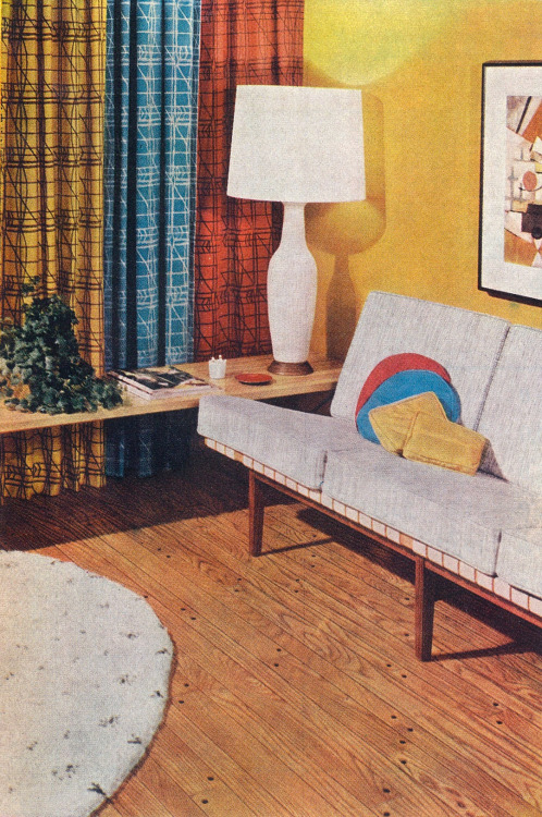 midcenturia:  Harry Bertoia and Jens Risom for Knoll, 1957