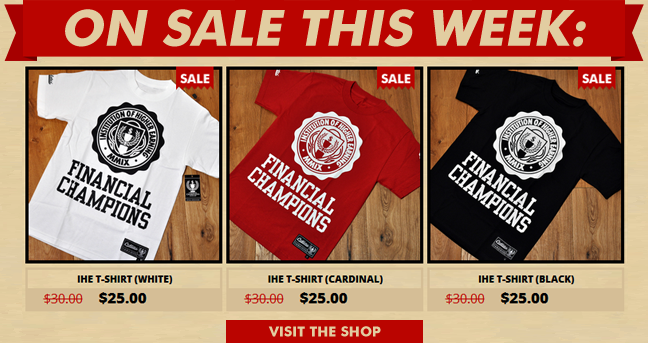 ON SALE THIS WEEK! IHE Tees SHOP NOW