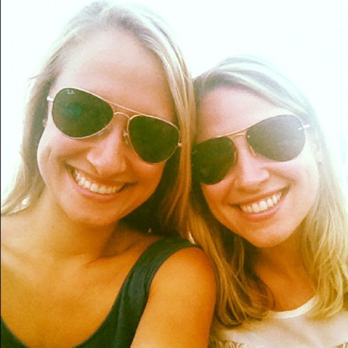 patientpractice:  Blues on the green with big sis! (Taken with Instagram)