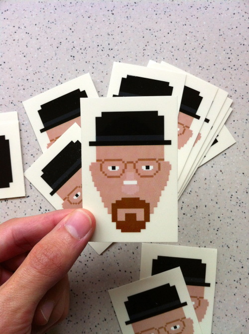 oliphillips:  Limited Edition - Walter White / Heisenberg - Breaking Bad Sticker Available here for just £1 Worldwide Shipping!
