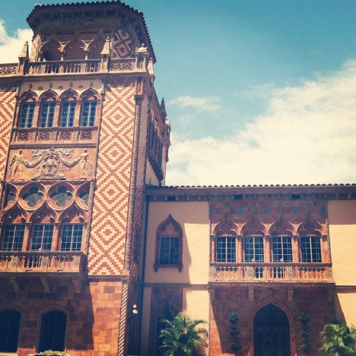 Hot day in Sarasota. #sarasota #ringling #art #facade #architecture #museum #mansion  (Taken with Instagram)