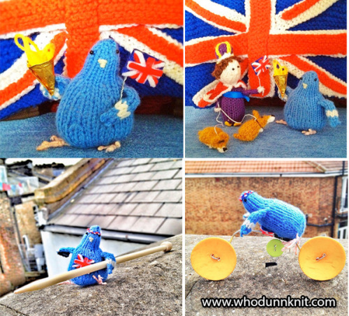 Today on Crafty Crafty: Stitch London's knitted pigeon Olympics http://bit.ly/OLERnY by Lauren O'Farrell
