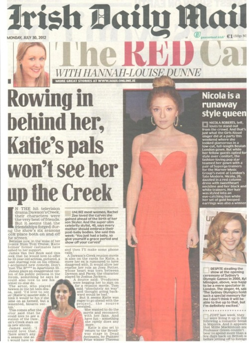 Nicola Roberts in Beulah, in the Irish Daily Mail x