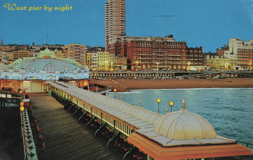 postcard by color line on Flickr.Old Brighton post card.