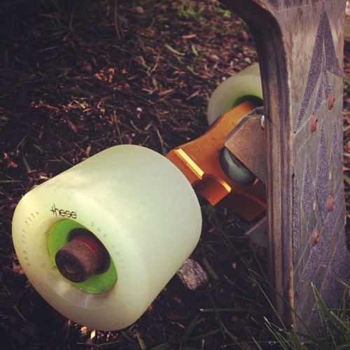 These wheels on SurfRodz RKP. Slide like a dream. #longboarding #summer #steez #skate #skateboarding #tripleblackdiamondlb #longboard  (Taken with Instagram)