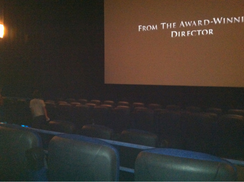 Smallest movie theater ever.  5 rows!