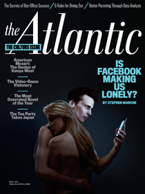 """Is FB Making Us Lonely?"" This picture speaks a 1000 words. The article is much more words, but so worth the read… enjoy.  http://www.theatlantic.com/magazine/archive/2012/05/is-facebook-making-us-lonely/8930/"