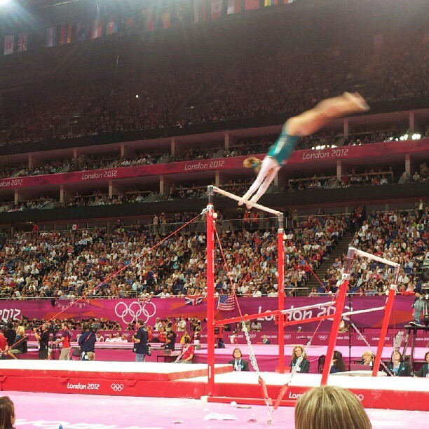 Team CAN takes the uneven bars #gymnastics #olympics  (Taken with Instagram)