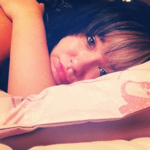 Good morning. ☀ #me #self #cute #bed #newbangs #bangs #newhair #biglips #chubby #chubbycheeks #bbw #sleepy #longhair #blackhair #platinumhair #comfy #hi #pouty #idk  (Taken with Instagram)
