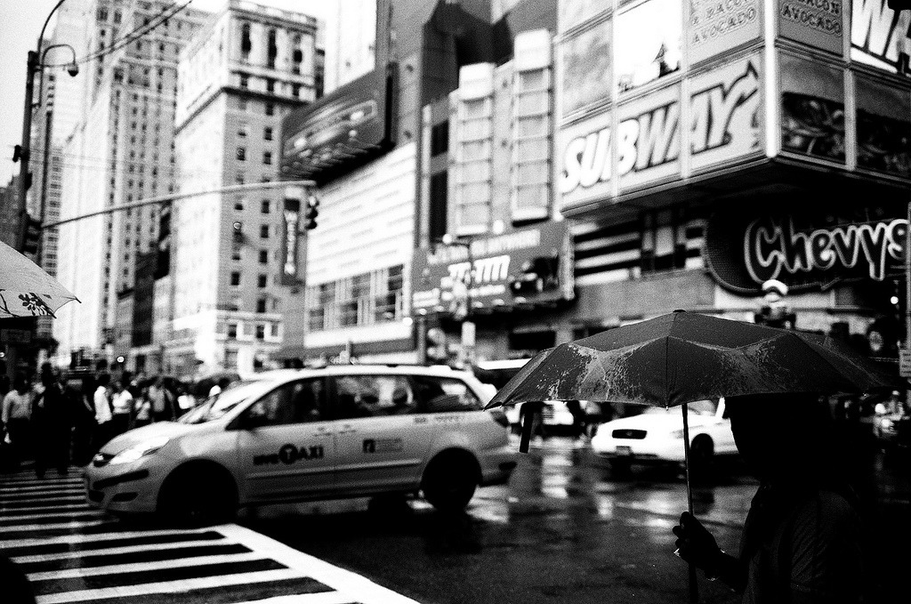 It's been rainy in the city. Photo by Evan Tetreault.