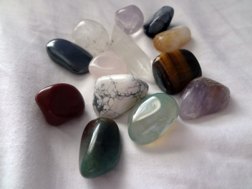 enchanted-gaia:  A few of my crystals. :] ♥