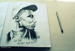 Frank Ocean I wasn't sure if I was gunna put time aside to sketch him out, no ones ever really good enough to idolize.  have loved him since Nostalgia Ultra, but decided to wait till I saw him live at Kool Haus before posting.  He was breathtaking and now every time his song plays on my Itunes, itsheartwrenching  Original :  http://www.eatinghiphop.com/wp-content/uploads/2012/07/frank-ocean2.jpg